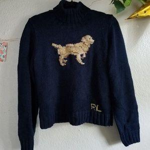 Ralph Lauren Golden Retriever turtleneck sweater.